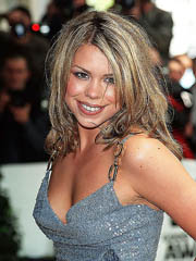 Billie Piper braless and flashes some..