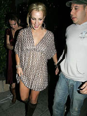 Britney Spears cleavage in little dress