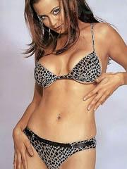 Catherine Bell topless and a bikini pants