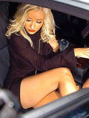 Christina Aguilera hot in see thru dress