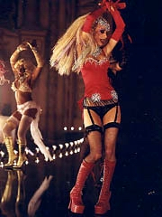 Christina Aguilera braless in see thru..