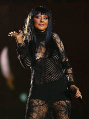 Christina Aguilera see thru dress and..