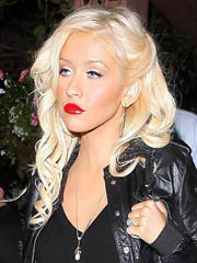 Beauty celebrity Christina Aguilera..