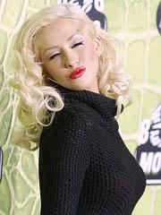 Christina Aguillera hot boobs in see..