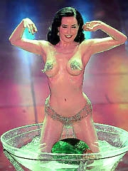 Dita Von Teese does hot strip dance at..