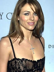 Elizabeth Hurley hot paws coupled with..