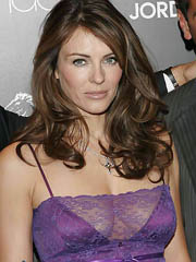 Elizabeth Hurley flashes hot see thru..