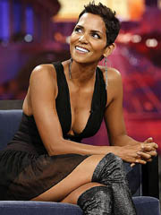 Halle Berry busts out kicker big cleavage