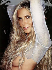 Heidi Klum topless in hot see thru dress