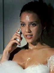 Jessica Alba nude and hot in bubble bath