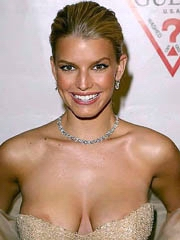 Jessica Simpson push up cleavage in..