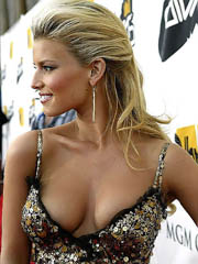 Jessica Simpson big boobs in a little..