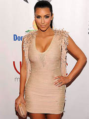 Kim Kardashian cleavage in hot tight..