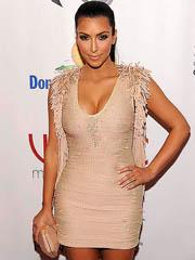 Kim Kardashian cleavage in hot tight..