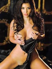 Kim Kardashian hot twists in leather..