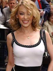 Kylie Minogue hard nipples in tank top