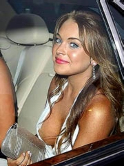 Lindsay Lohan hot in short dress and..