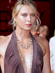 Maria Sharapova cleavage in little..