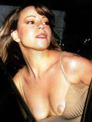 Mariah Carey big tits in see thru dress