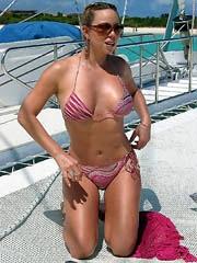 Mariah Carey hard nipples in a tank top