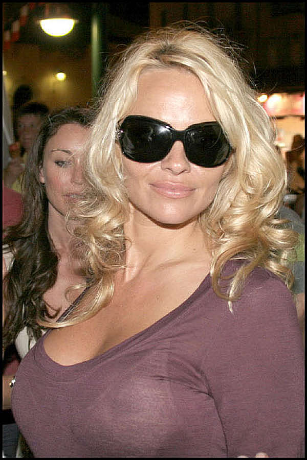 Pam andersons tits in see thru