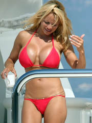 Beauty celebrity Pamela Anderson nude..