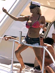 Pamela Anderson big boobs in pink bikini