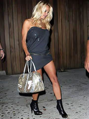 Pamela Anderson busty in hot short..
