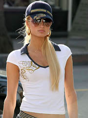 Paris Hilton boob slip in a little..