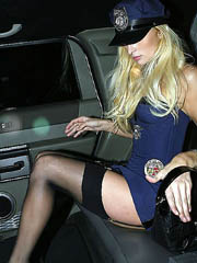 Paris Hilton ass upskirt in slutty cop..