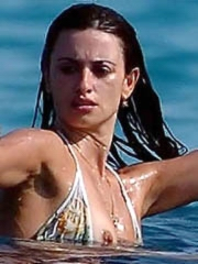 Penelope Cruz big boobs in a bikini