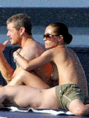 Rebecca Gayheart topless caught at the..