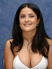 Salma Hayek flashes big latina cleavage