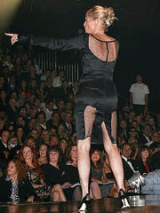 Sharon Stone hot ass in tight black dress