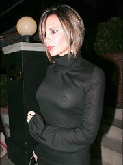 Victoria Beckham flashes sideboob..