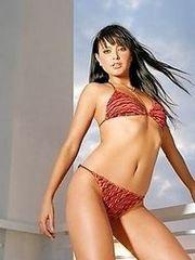Holly Valance's hot body in a bikini in..