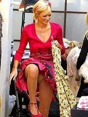 Paris Hilton's pussy upskirt