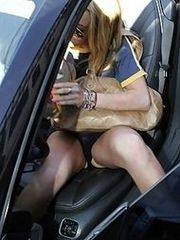 Lindsay Lohan unaware of the upskirt..