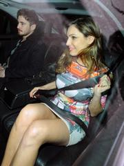 Hot Kelly Brook upskirt candids