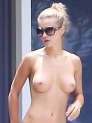 Joanna Krupa topless candids in Miami