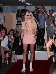 Taylor Momsen upskirt candids at an event