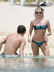 Pixie Lott bikini candids in Mauritius