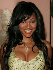 Sexy Meagan Good busty in her yellow..