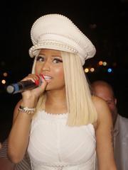 Sexy Nicki Minaj posing in tight white..