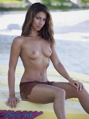 Leilani Dowding topless in a photoshoot