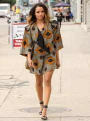 Kat Graham sexy and leggy while shopping