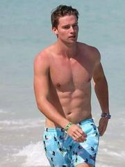 Patrick Schwarzenegger shirtless beach..