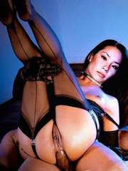 Lucy Liu Works The Stripper Pole Topless