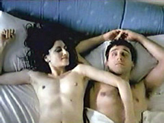 Ronit Elkabetz exposes hairy pussy and plays with cock