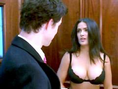 Salma Hayek naked in hardcore home clips